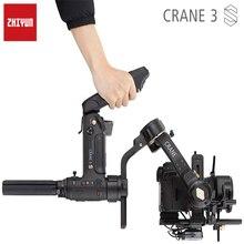 Ручной Стабилизатор ZHIYUN Crane 3S/SE, 3 осевой шарнирный стабилизатор, поддержка камеры DSLR 6,5 кг, видеокамеры, видеокамеры s для Nikon, Canon