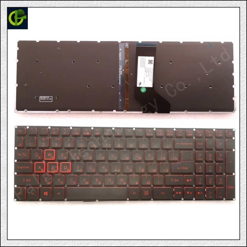 Russian Backlit Keyboard For Acer Nitro 5 AN515 AN515-51 AN515-52 AN515-53 AN515-41 AN515-42 AN515-31 N17C1 AN515-51-56U0 RU