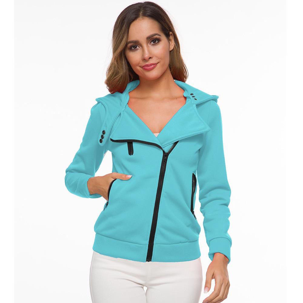 oversize 2020 Zipper Hoodies Women Jackets Hoody Jumper Overcoat Outwear Female Sweatshirts Warm Fashion Long Sleeve Hoodies 1