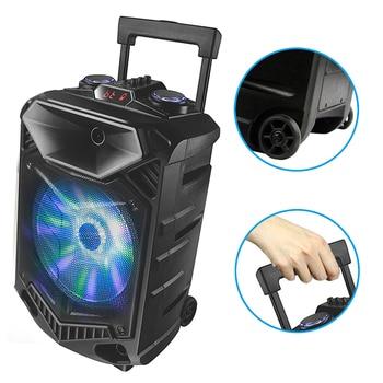 Shinco Portable Bluetooth Karaoke DJ Speaker System High Power 12-inch Woofer Trolley Speaker with Wireless Microphone 5