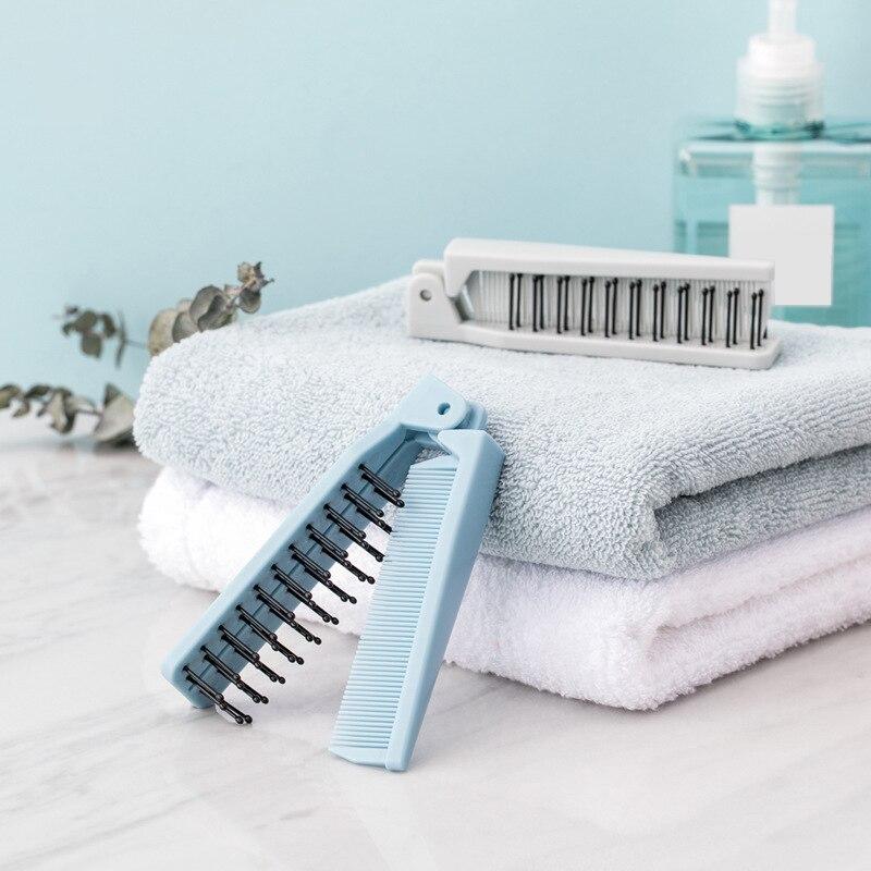 Foldable Hair Comb Travel Hair Brush Portable Dual Use Comb Massage Brush Anti-stati Hairbrush Folding Hairdressing Styling Tool