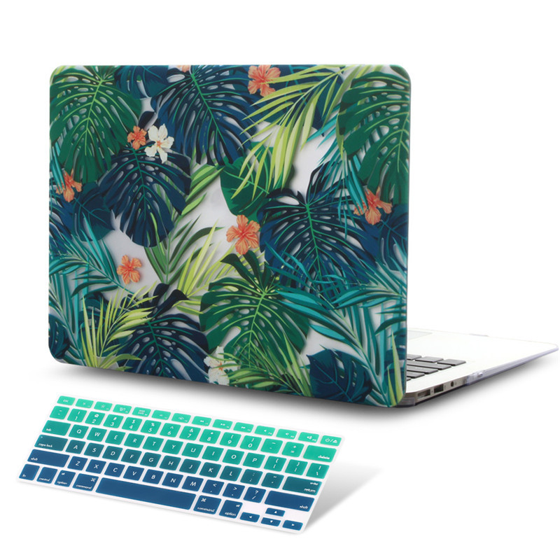 Image 5 - Green Leaves Beautiful Petals Printed Plastic Case Cover for Macbook Air 11 12 13  A1932 2020 Pro 13 15 16Touch Bar 2019 A2141case cover for macbookcover for macbookcover for macbook air -