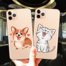 Phone-Case Corgi-Cover Cartoon Cat Soft-Silicone 7-Plus for 12 Mini 11 Pro XS Max 6S