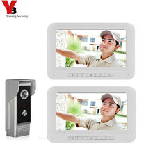 """Yobang Security 7"""" Color Screen Home Video Interphone Doorphone Bell Kits Home Families Door Access Control Intercom Systems"""
