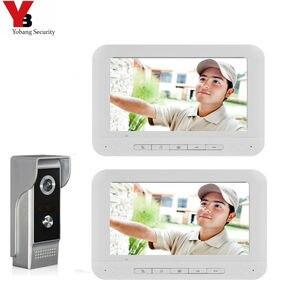 Image 1 - Система видеонаблюдения Yobang, домашний домофон с цветным экраном 7 дюймов, набор для домофона, домашняя семейная система контроля доступа к дверям