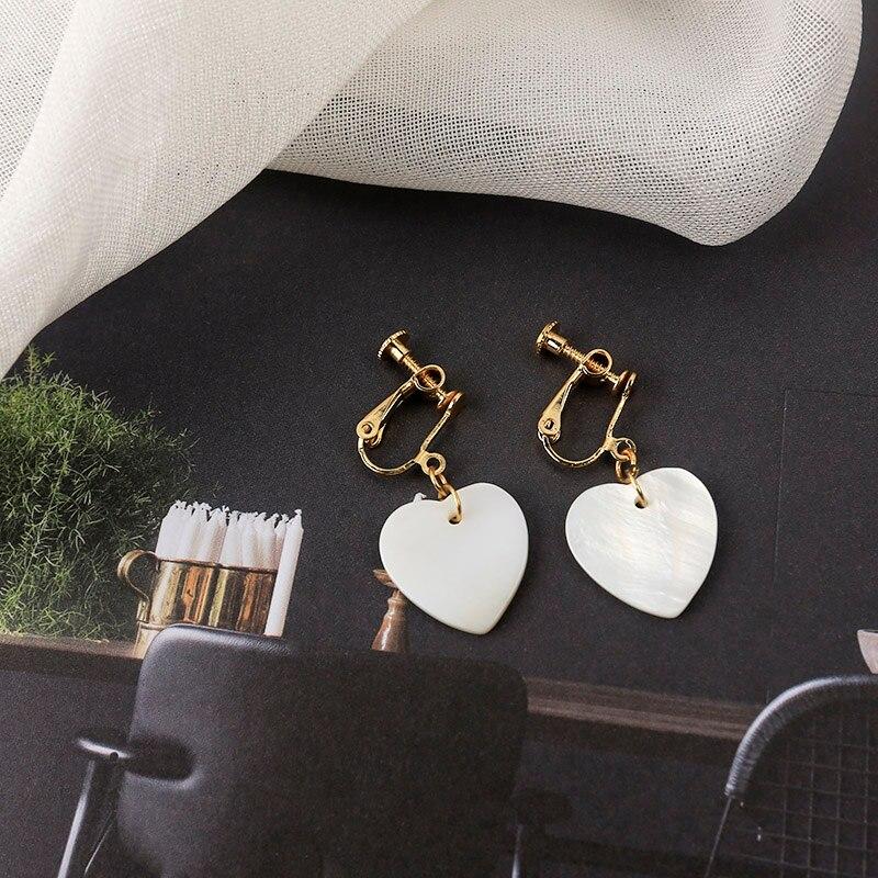 Trendy Lovely Heart Drop Earrings Fashion Girl Earrings For Women Brincos Personality Dangle Earring Minimalist Jewelry Gift in Drop Earrings from Jewelry Accessories