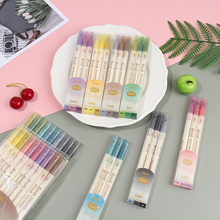 3Pcs/Set Retro Color Twin Marker Pens Set Brush Drawing Fine Liner Water Based Ink Blendable Watercolor Art Painting School