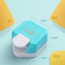 R4 R7 R10 3 In 1 Corner Rounder Paper Punches Border Punch Round Corner Paper Cutter Card Scrapbooking for DIY Handmade Crafts
