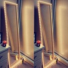 Косметический зеркальный светильник 5В USB светодиодный гибкий ленточный кабель USB питание туалетный зеркальный светильник Декор 0,5 м-5 м