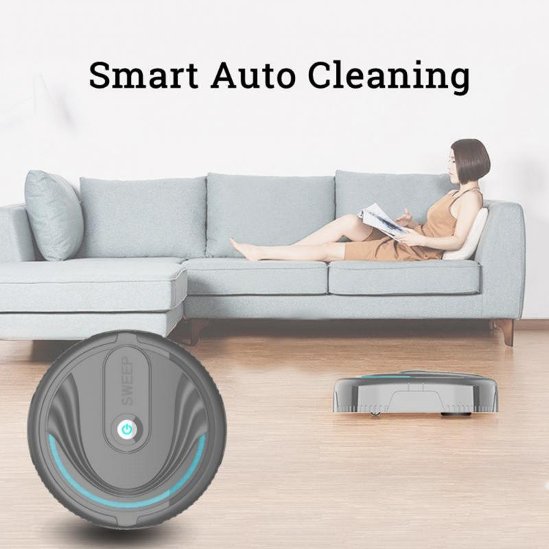 Newest Smart Robot Vacuum Cleaners Mini Automatic Floor Sweeping Cleaning Machine Dust Hair Broom Sweeper for Household Cleaning