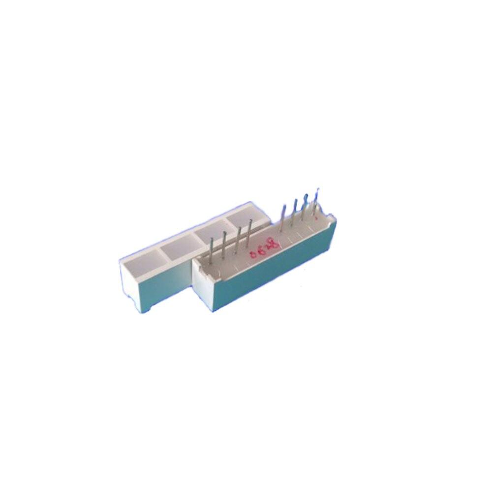 Taidacent 10Pcs LED Flat Strip Tube Light Bar Light Beam 4 Grid 6 * 28 * 8mm L06281-4AR Red Common Anode LED Tube Strip Lights