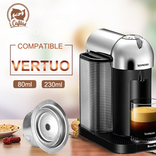 BIG & Small Cup Reusable Vertuo Coffee Capsule Steel Stainless Metal for Nespresso Nespresso