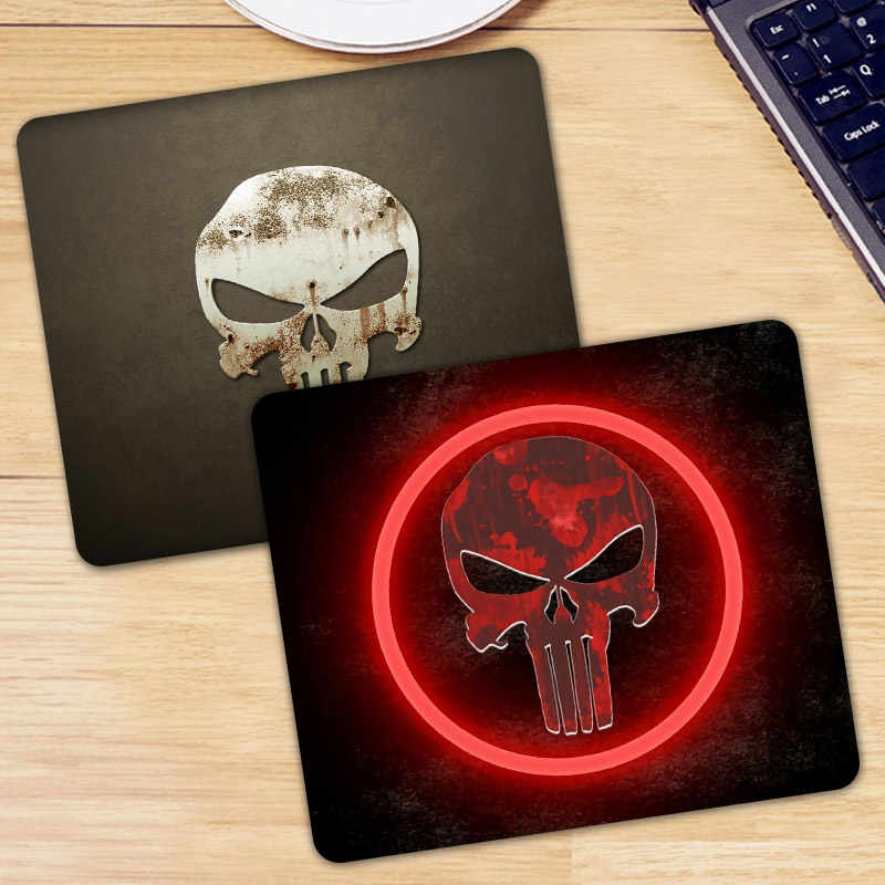 Punisher Tengkorak Bermotif PC Tablet Gamer Komputer Laptop Mouse Pad Mouse Mat Mousepad Menghias Meja Anda