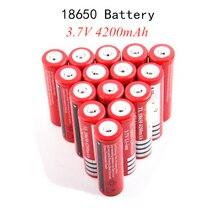 4-20 pces original novo 18650 3.7v 4200 mah 18650 bateria recarregável de lítio para gtl evrefire lanterna baterias