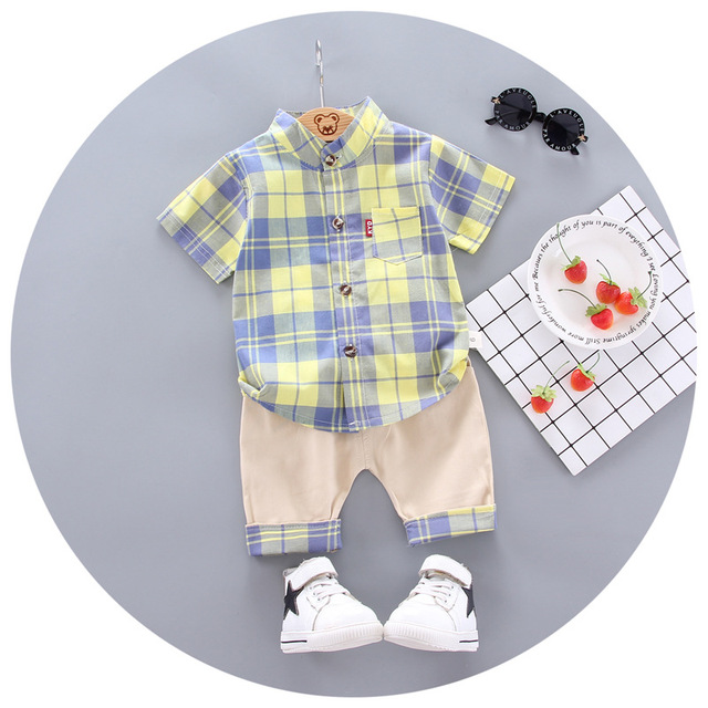2020 summer  Boys shirt and Shorts Pants 2 pieces Clothing sets children's clothing Baby Boys clothes Children's Clothes Sets