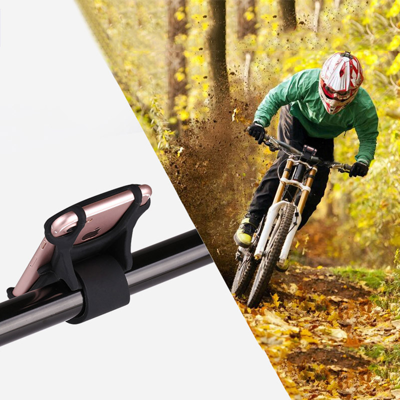 Bicycle Holder Silicone Support Universal Mobile Cell Phone Handlebar Mount Band Bike GPS Clip For iPhone Samsung Xiaomi PA0115 (3)