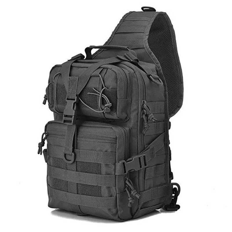 Outdoor Military Tactical Crossbody Bag 800D Oxford Waterproof Wear-resistant Chest Bags Climbing Riding Travel Hiking Backpack