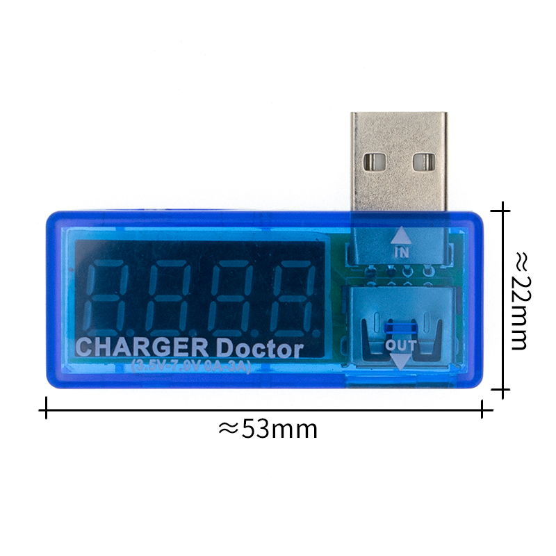Tester Charger Voltage-Detector Doctor Display Hot Mini Portable Current Digital And