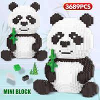 LOZ Mini Blocchi Creatore FAI DA TE Assemable Cina Preziosi Panda Blocchi di Costruzione di Modello Animale 3689pcs Educativi Giocattoli Dei Mattoni per I Bambini
