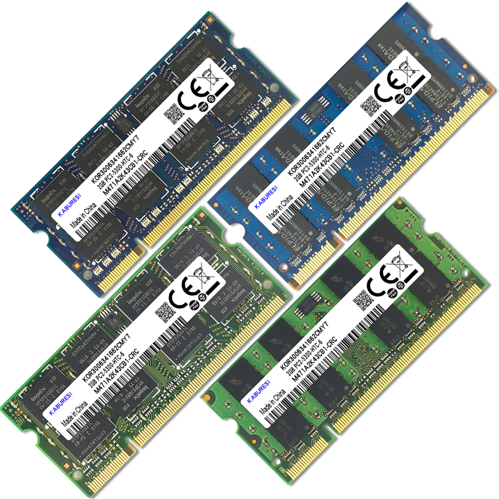 Купить с кэшбэком KABURESI 4GB(2x2GB)  DDR2 2GB 800MHZ 667MHZ 200pin Laptop Memory ram 2x Dual-channel PC2-6400 PC2-5300 Notebook SODIMM RAM 1.8v