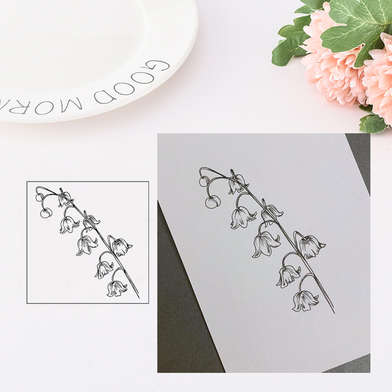 Jcarter Clear Stamps Fine Bunch of Flowers Rubber Stamps Silicone Scrapbooking for Card Making Craft Decoration New Stamp 2019 in Stamps from Home Garden