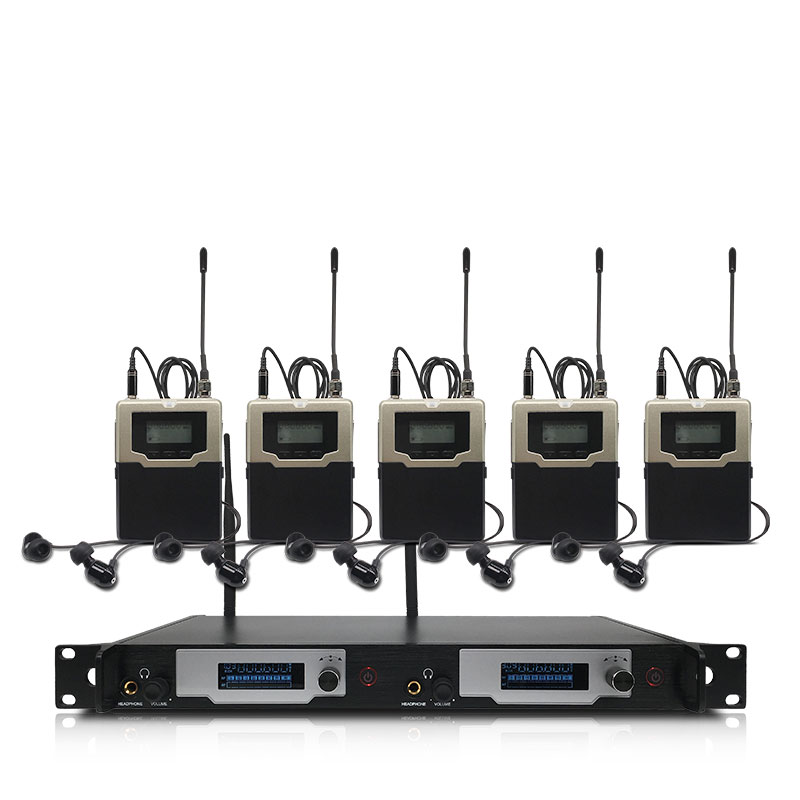 Professionelle wireless <font><b>in</b></font>-<font><b>ear</b></font> monitoring system 2-kanal 5-bodypack <font><b>monitor</b></font> mit <font><b>in</b></font>-<font><b>ear</b></font> drahtlose überwachung typ für bühne image
