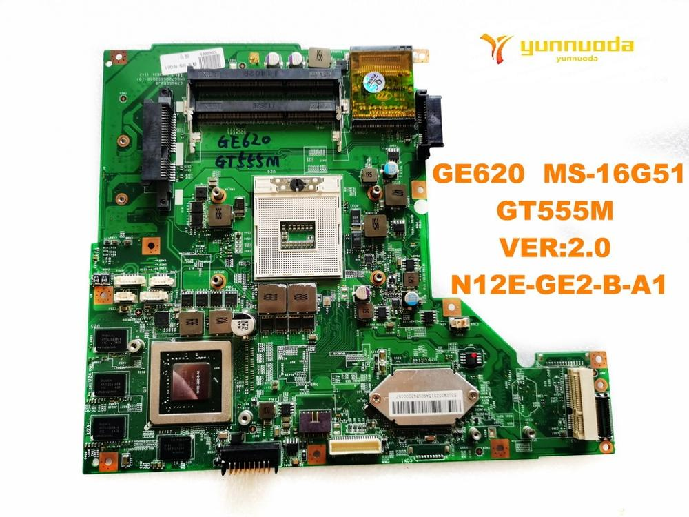 Original for MSI GE620  MS-16G51 laptop motherboard GE620  MS-16G51  GT555M   VER2.0  N12E-GE2-B-A1 tested good free shipping