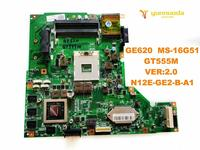 Original for MSI GE620 MS 16G51 laptop motherboard GE620 MS 16G51 GT555M VER2.0 N12E GE2 B A1 tested good free shipping