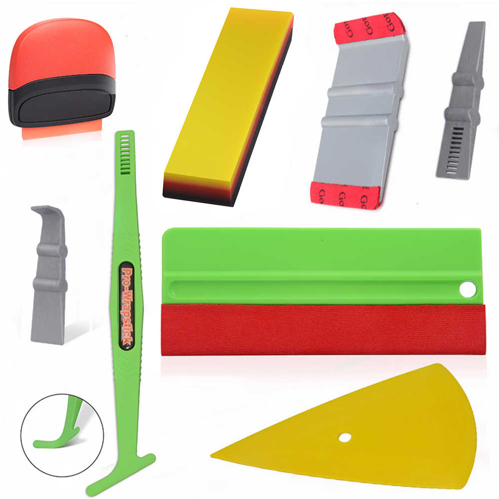 EHDIS Car Sticker Decals Styling Tools Kit Carbon Film Vinyl Wrap Squeegee Cutter Exterior Accessories Window Tinting Tool