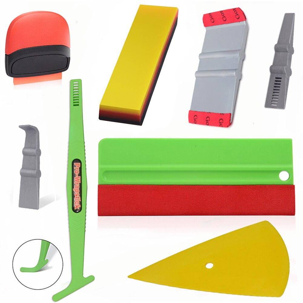 Ehdis decalques adesivo do carro ferramentas de estilo kit filme carbono vinil envoltório rodo cortador exterior acessórios janela matiz ferramenta