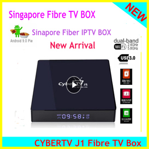 Image 1 - 2020 singapur Starhub Fiber Cyber TV kutusu Android 9.0 2.4/5Ghz çift wifi singapur malezya için tayland japonya kore abd kanada