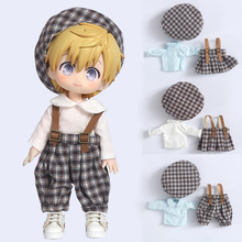 Doll Clothes Lovely lattice shirt and skirt and hat and pants for Ob11,Mollys,obitsu 11,1/12 BJD Doll Clothing Accessories