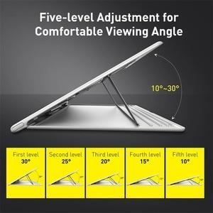 Image 3 - Baseus örgü taşınabilir dizüstü Macbook pro standı katlanabilir dikey dizüstü tutucu aksesuarları destek dizüstü Tablet