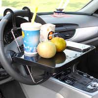 Bandeja de dirección de coche para comida, soporte de montaje de mesa de escritorio con cajón para el cuidado Personal de los coches