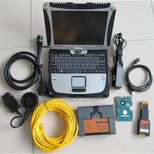 Ferramenta profissional para cF-19 usado portátil 4g + icom a2 para bmw + novo software hdd 1000gb carro diagnóstico automático e programa scanner