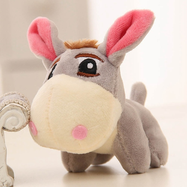 12cm Kawaii Little Donkey Plush Toys Cute Mini Pendant Soft Stuffed Animals Doll Baby Toy Kids Toy Birthday Gifts Bag Accessory