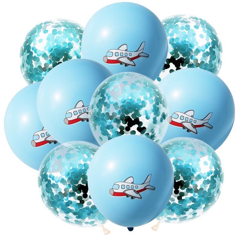 BA2810-10尼蓝亮片飞机气球