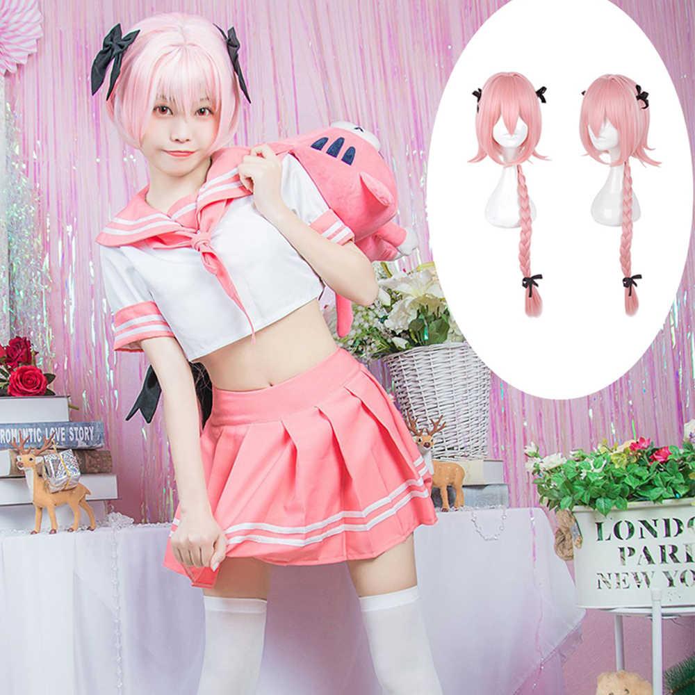 Anime Fate Apocrypha Astolfo JK Student Uniform Pink Sailor Suit Cosplay Costume