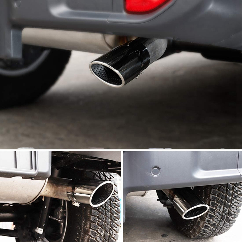for Jeep JL 2018 2019 Rear Tail Exhaust Pipe Tip Tube Car External Accessories