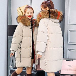 Image 3 - Winter Hooded Warm Down Coat Women Casual Long Down Jackets Ladies Thicken Cotton Parka Plus Size Outerwear Korean Harajuku Coat