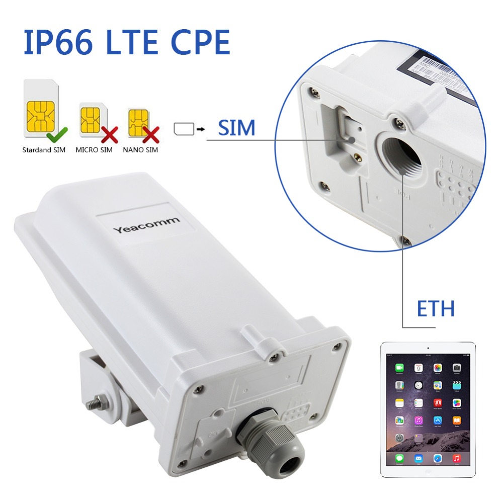 Roteador Exterior Impermeável Industrial De YF-P11 Cpe 4g Lte Cat4 150 M Cpe Tdd Fdd Sem Wifi