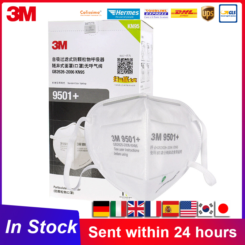 KN95 3M 9501 9502 Mascarilla individual package Particulate Protective Respirators 3M KN95 Mascarillas In Stock Fast Delivery