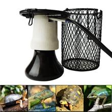 цена Ceramic Heating Lamp Heater Guard Holder E27 Ceramic Lamp Holder Reptile Terrariums Infrared Heat Bulb(100W) онлайн в 2017 году
