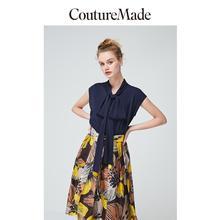 Vero Moda Women's Couturemade OL Lace Up Collar Silk Chiffon Top | 31926Y507