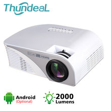 ThundeaL 2000 Lumen Mini Android WiFi Projektor Unterstützung Full HD 1080P Tragbare Video Movie Game Proyector LED 3D WiFi beamer(China)