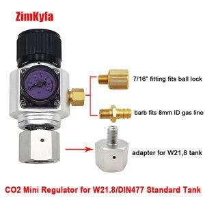 Image 2 - Mini regulador de gás co2, sodastream, paintball, cga320, tanque w21.8, adaptador de cartucho descartável para cerveja homebrew cornelius/barril corny