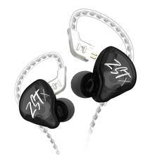 Original KZ ZST Bunte BA + DD In Ohr Kopfhörer Hybrid Headset HIFI Bass Noise Cancelling Earbuds Mit Mic Ersetzt BT Kabel