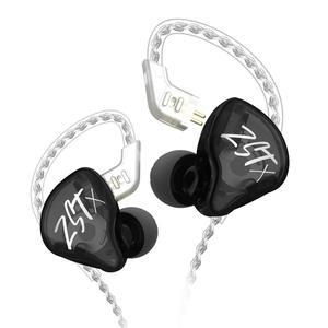Image 1 - Original KZ ZST Bunte BA + DD In Ohr Kopfhörer Hybrid Headset HIFI Bass Noise Cancelling Earbuds Mit Mic Ersetzt BT Kabel