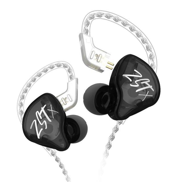 Original KZ ZST coloré BA + DD dans loreille écouteur hybride casque HIFI basse suppression de bruit écouteurs avec micro remplacé BT câble
