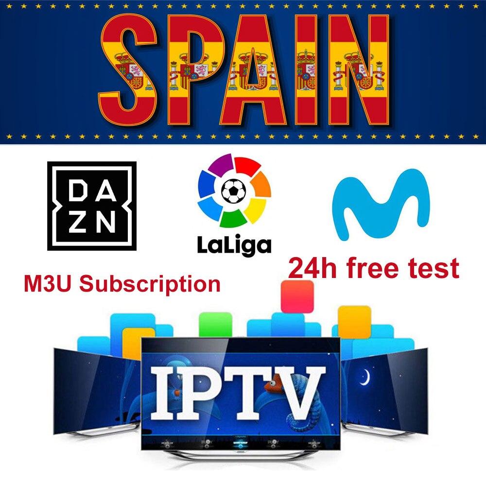 Spain IPTV M3U Subscription Movistar LaLiga DAZN Eurosport Spanish VOD Movies With XXX Support Android Box Enigma2 IOS Smart TV